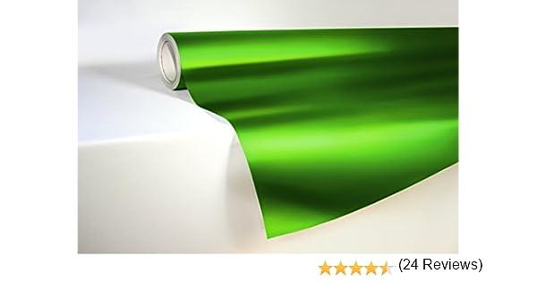 vvivid verde cromo satinado vinilo Wrap elástico se ajustan DIY fácil de usar Air-release adhesivo: Amazon.es: Coche y moto