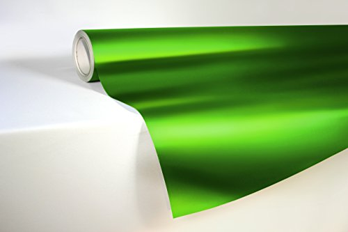 VViViD Emerald Green Satin Chrome Metallic Finish Vinyl Wrap Film Roll 1 Foot x 5 Feet Decal Sheet DIY Easy to Use Air-Release Adhesive -