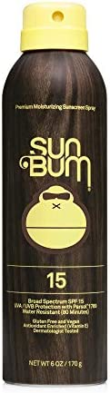 Sun Bum Original SPF 15 Sunscreen Spray Vegan and Reef Friendly (Octinoxate & Oxybenzone Free) Broad Spect