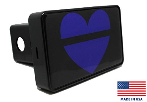 Bright Hitch - Thin Blue Line Heart Hitch Cover