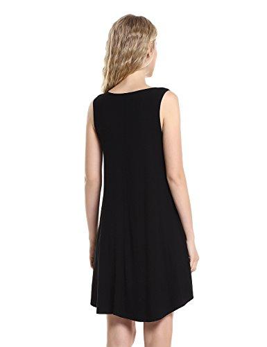 210154181ad74f STYLE Women s Loose Fit Sleeveless T Shirt Dress Swing Tunic Tank Top