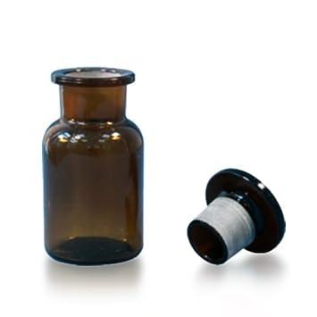 15 X frascos de farmacia 100 ml – Marrón – Incluye tapón de cristal * *