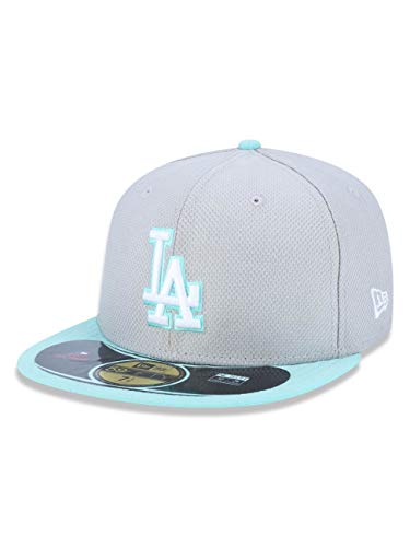 - New Era MLB Los Angeles Dodgers Diamond Era POP 59FIFTY Fitted Cap (Cool Grey/Teal) (7 1/8)