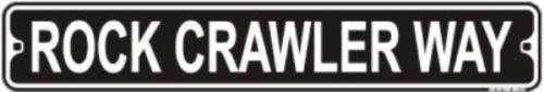 Rock Crawler Wat 3'' x 18'' Metal Mini Street Sign