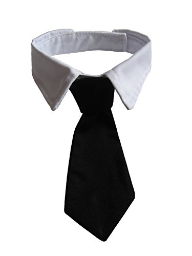 Vedem Pets Dog Cat Formal Neck Tie Tuxedo Bow Tie and Collar Black (XL)]()