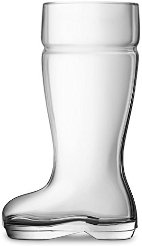 Circleware Das Boot Glass Beer Glasses Drinking Mug, Funny Shaped Entertainment Beverage Glassware for Water, Juice, Iced Tea, Liquor and Bar Barrel Liquor Dining Decor, 1 Boot, Large 1 Liter by Circleware (Image #1)