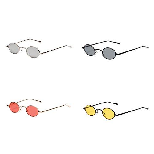 Ronde Lunettes Vintage UV Rétro Cadre Blanc 400 Protection Classique Soleil de Sharplace qXdpgww