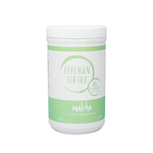 Organic Matcha Collagen Peptide Powder For Women - Organic Green Tea (Matcha), Grass-Fed, Pasture Raised, Hydrolyzed, Sugar Free