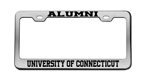 (zhangjialicense Alumni University of Connecticut University Aluminum License Plate Frame Tag Black 2 Holes and Screws)