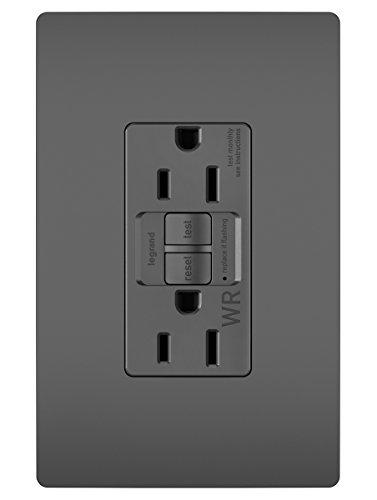 Legrand - Pass & Seymour radiant 1597TRWRBK Weather-Resistant/Tamper-Resistant 15 Amp Self-Test GFCI Outlet, Black