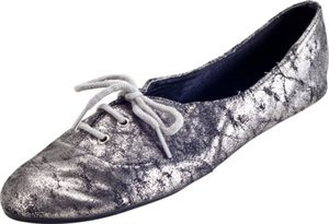TASH FOLDS FEMALE ADULT FAME SHIMMER PU LEATHER FOLDABLE FLAT Silver