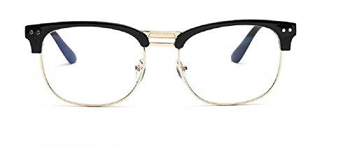 films EmbryformBlue lunettes anti-radiations pour miroir plat rétro Piano Black / Gold