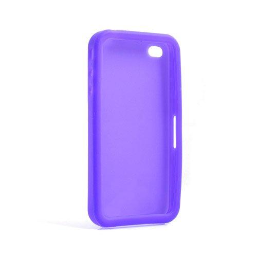 System-S Silikon Hülle Case Skin in Lila für Apple iPhone 4
