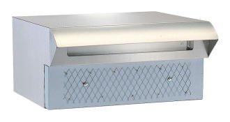 ハッピー金属ポスト 672 ポスト口(差し入れ口)受箱一体型 1B-05 B003LX3SOS