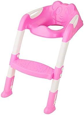 Bebé Niños Orinal Formación Aseo escalera asiento Medidas rosa: Amazon.es: Bebé