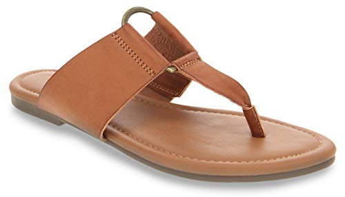 - Sugar Women's Pacific Flat Thong Sandal with Ring Hardware Cognac 6