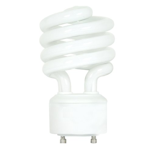 Gu10 Compact (Kichler Lighting  4044 18-watt GU24 Base Spiral One Piece Replacement Compact Fluorescent Lamp, White)