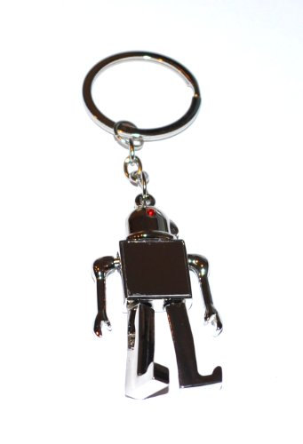 CyeBot Silver Robot Keyring With Moveable Arms & Legs /Novelty Keychain (KR01) (Robot Keyring compare prices)