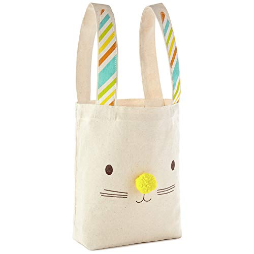 Hallmark Large Easter Canvas Bag (Ivory, Bunny Ears) -