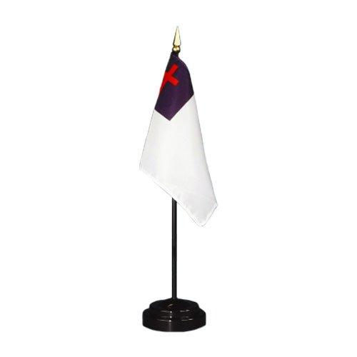 Christian Flag 4X6 Inch Mounted E Gloss