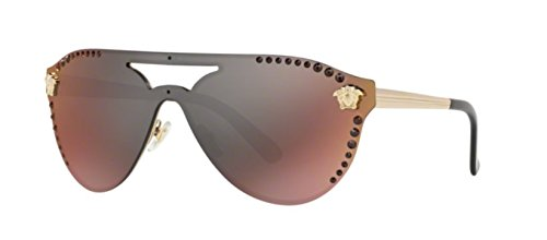 Versace Womens Sunglasses Gold/Red Metal - Non-Polarized - 42mm by Versace