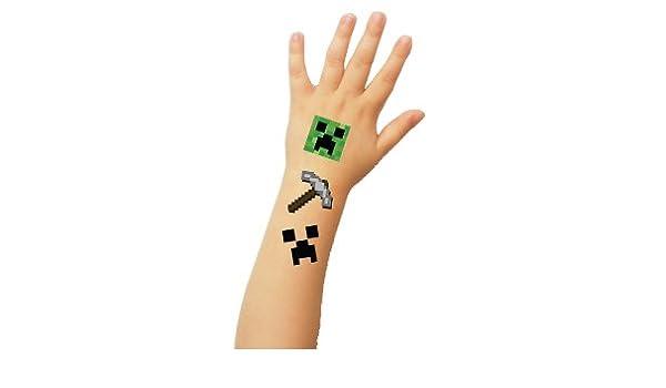 Tatuajes temporales - Pack de 15 bloques de píxeles: Amazon.es ...