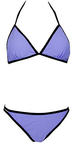 AvaMia Traje de Bano Dos Piezas Bikini Set de Impresion Swimsuit mujer Lila