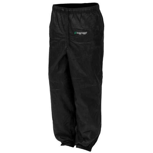 Frogg Toggs Pro Action Waterproof Rain Pant, Black, Medium (Rain Pants For Woman)