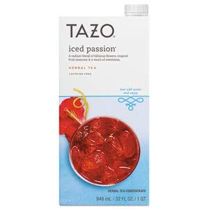 Tazo Iced Tea Concentrate, Iced Passion, 32 Oz Tetra Pak, 6/Carton by TAZO
