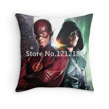 JSYOUDF The custom Pure cotton Pillowcase THE FLASH AND ARROW FLARROW Barry Allen Oliver Queen Decorative Pillowcases 18