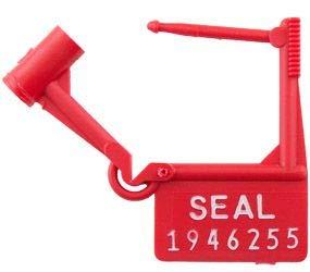 TydenBrooks Spring-Lok Padlock Security Seal, Red, 1000 Count