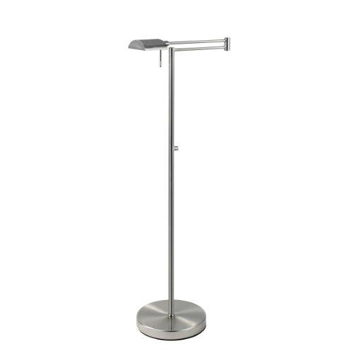 D Lite 1 Light Floor Lamp Finish: Satin Nickel (Lamp Pharmacy Floor Antique Nickel)