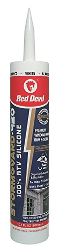 Red Devil 078012 StormGuard 920 100% RTV Silicone Sealant (White), 10.1 Oz, 12 Pack