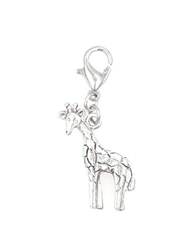 It's All About...You! Giraffe Clip on Charm Perfect for Necklaces and Bracelets 102Ah ()