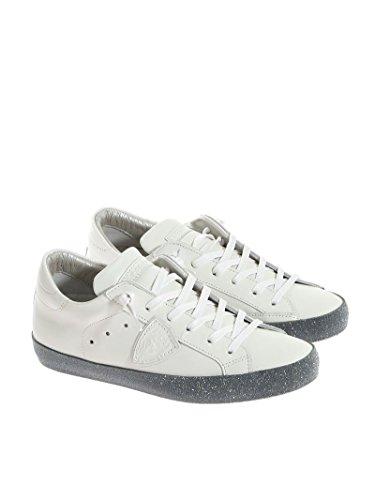 Philippe Model Dames Cgldvl07 Witte Lederen Sneakers