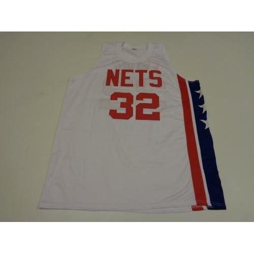 meet 370e2 6dbe4 Julius Erving Signed Jersey - DR J Nets white Witness - JSA ...