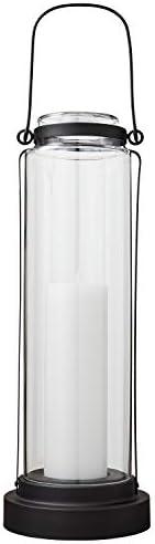 Amazon Brand Stone Beam Modern Casual Decorative Metal and Glass Lantern