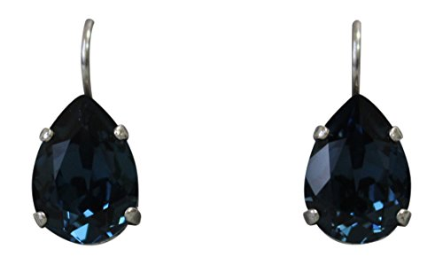 Mariana Blue Teardrop Swarovski Crystal Drop Earrings 207 ()