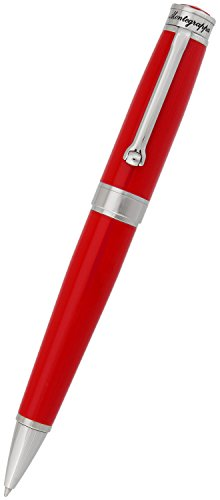 Montegrappa Parola 32 GB USB Ballpoint Pen Twist Open Red Resin ISWOUSBR Retail Price $345.00 (Palladium Resin Roller Ball Trim)