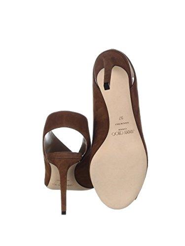 Chaussures Femme Jimmy Choo Avec Talon Shar85suecacao Marron Daim