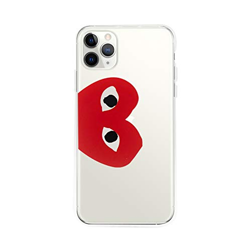 Mobile Phone Cases Comme des Garcons CDG Play Red Heart Logo Transparent Color PVC iPhone 11 Pro Max from Mobile Phone Cases