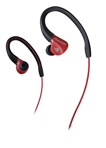 Pioneer IRONMAN Sweat-Resistant Sports Earphones, Red (SE-E3M-R)