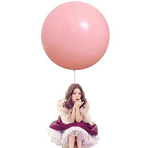 36 Inch Big Round Balloons 5 Pack Pink