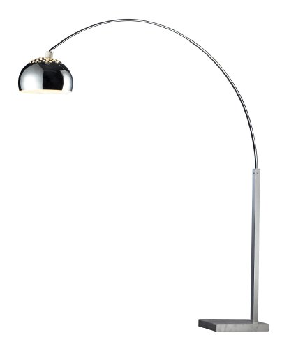 (Dimond D1428 Penbrook Arc Lamp, Silver Plated and White Marble)