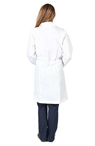 Natural Uniforms Unisex 40 inch Lab Coat, White (XXSmall) by Natural Uniforms (Image #1)
