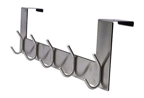 Pro Chef Kitchen Tools Over The Door Hook - 5 Coat Hooks - 15.5 Inches Wide and Fits Doors up to 1.5