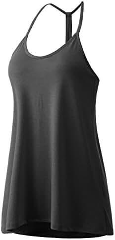 Regna X BOHO Women's Scoop & Halter Neck Basic Sheer Ultra Lightweight Sleeveless Tank Tops (5 styles)
