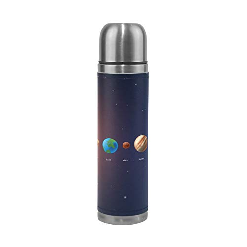 imobaby Classic Solar System Leak Proof Water Bottle Insulated Double Vacuum Stainless Steel Thermos 500ML by imobaby