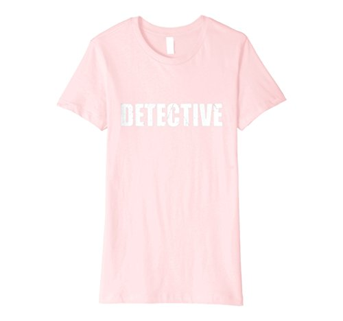 Womens Detective T Shirt Halloween Costume Funny Cute Distressed XL (Female Detective Costumes)