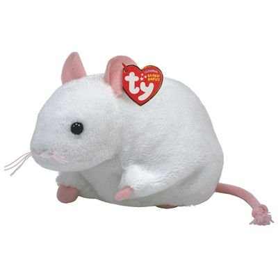 Ty Beanie Baby Tiny the Cute White Mouse New 2010 Beanie 2010 Ty Beanie Baby